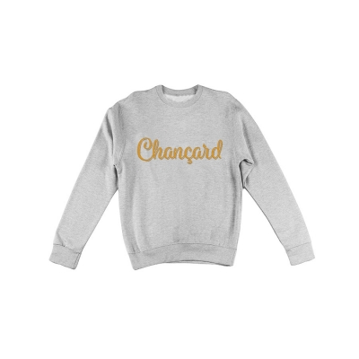 Chançard sweater mannen grijs/goud