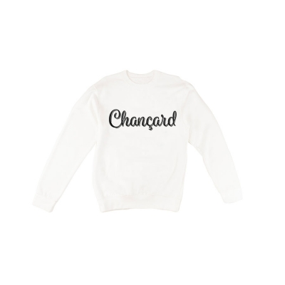 Chançard sweater mannen wit/rood