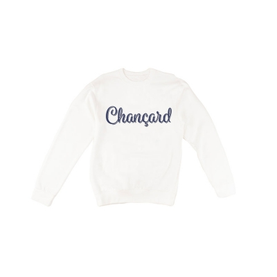 Chançard sweater Mannen wit/blauw