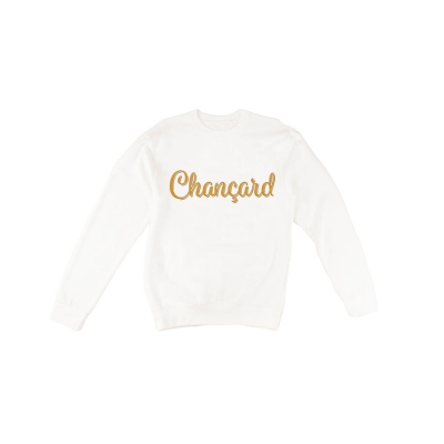 Chançard sweater mannen wit/goud