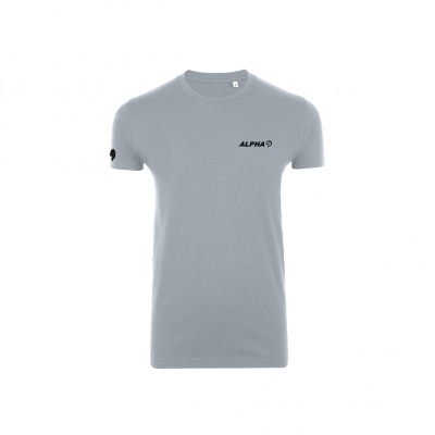 Shoulder logo stretch shirt Pure grey