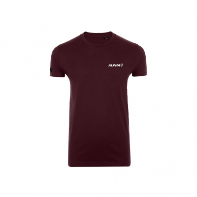 Shoulder logo stretch shirt Oxblood