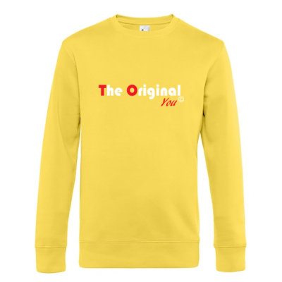 King Crewneck geel The original You