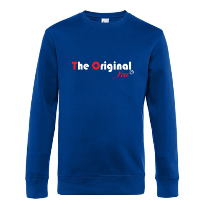 King Crewneck felblauw The Original You