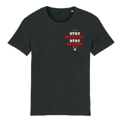 Stay Healthy - Little Red on Dark Grey