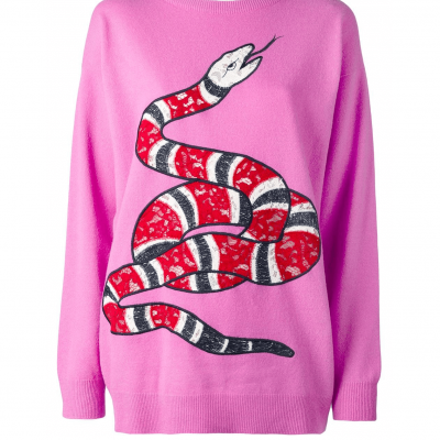 Gucci kingsnake appliqué jumper