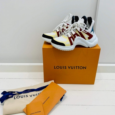 Louis Vuitton Archline multi colour sneakers size EU 38